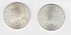 10 Schilling Silber Münze Österreich 1970 (114055)