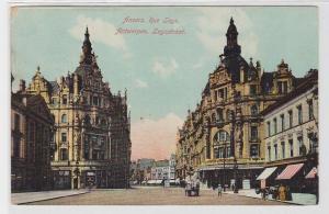 80231 Ak Antwerpen Leysstraat mit Geschäften um 1920