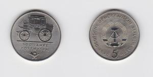 DDR Gedenk Münze 5 Mark 500 Jahre Postwesen 1990 (123776)