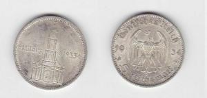 5 Mark Silber Münze 3. Reich Garnisonkirche 1934 E (117902)