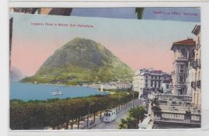 87611 Fehldruck AK Lugano - Quai e Monte San Salvatore um 1920