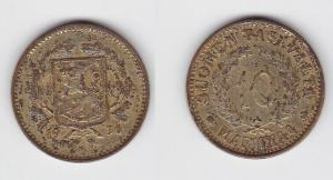10 Markkaa Messing Münze Finnland 1930 (114119)