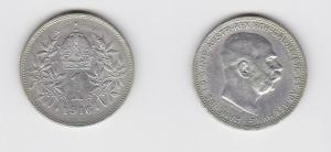 1 Krone Silber Münze Österreich 1916 (130285)