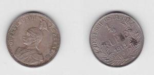 1/2 Rupie Silber Münze Deutsch Ost Afrika 1913 J (113230)