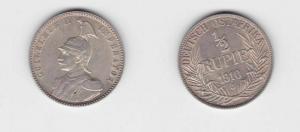 1/2 Rupie Silber Münze Deutsch Ost Afrika 1910 J (113011)