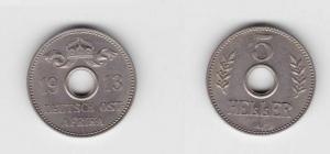 5 Heller Kupfer-Nickel Münze Deutsch Ostafrika 1913 A (118532)