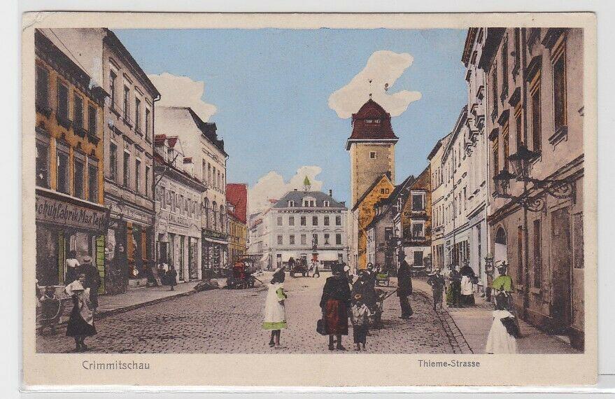 sports shoes 281f4 3f96c 92989 AK Crimmitschau - Thieme-Strasse m. Schuh-Fabrik Max Tack & Kaufhalle  1914