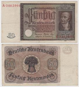 Banknote 50 Rentenmark 1934 Rosenberg Nr. 165 (131946)