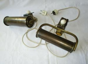 Antike Art Deco Messing Lampe Bettleuchte Klemmlampe (109891)
