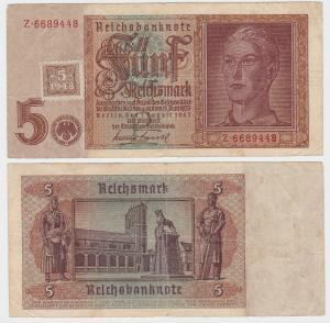 5 Mark Banknote DDR Deutsche Notenbank 1948 Kuponausgabe Ro.Nr.333 a (132149)