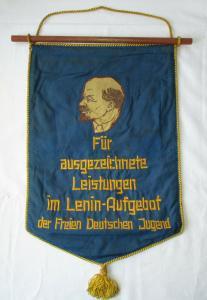 DDR Wimpel Lenin Aufgebot der freien deutschen Jugend FDJ (124056)