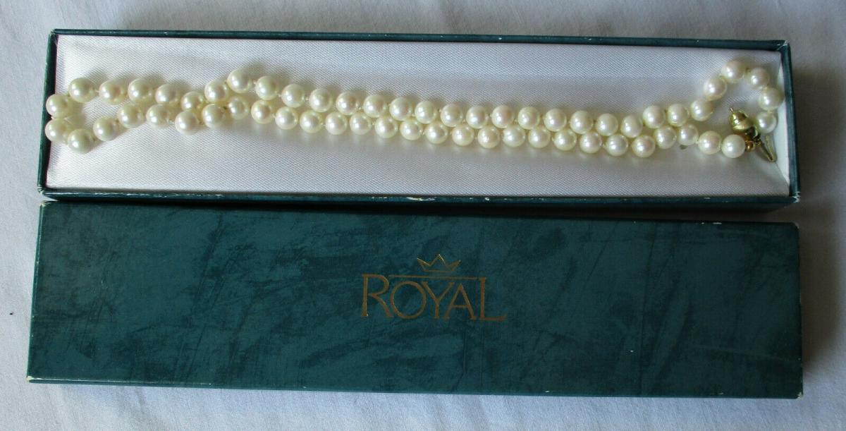 Phantastische Damen Perlenhalskette 585er Gold Länge 49 cm (109499) 0