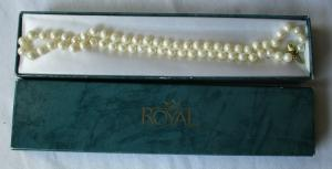 Phantastische Damen Perlenhalskette 585er Gold Länge 49 cm (109499)