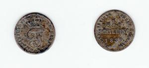 1 Schilling Silber Münze Mecklenburg Schwerin 1830 (122488)