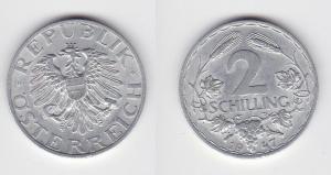 2 Schilling Silber Münze Österreich 1947 vz (114614)