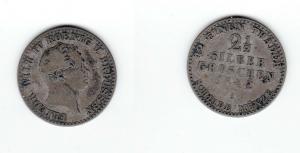2 1/2 Silbergroschen Münze Preussen Friedrich Wilhelm VI. 1842 A (121048)