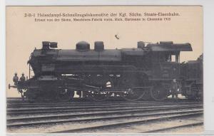 83682 Ak Heissdampf Schnellzugslokomotive der kgl.Sächs.Staats Eisenbahn 1913