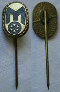Seltene DDR Anstecknadel Ehrennadel Mitropa Stufe Gold (126203)