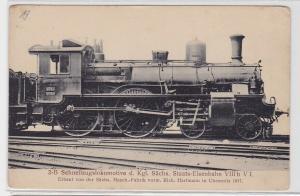 74125 Ak Schnellzugslokomotive der kgl.Sächs.Staats Eisenbahn VIII b V 1