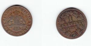 1 Kreuzer Kupfer Münze Nassau 1859 (121815)