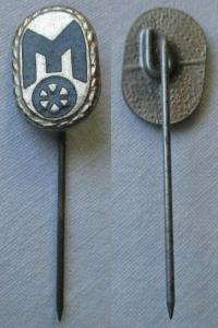 Seltene DDR Anstecknadel Ehrennadel Mitropa Stufe Silber (126489)