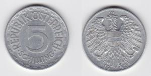 5 Schilling Silber Münze Österreich 1952 (116488)