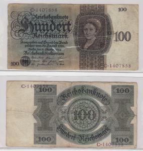 100 Mark Reichsbanknote Deutsches Reich 11.10.1924 Ro 171 (124095)