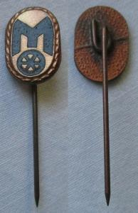 Seltene DDR Anstecknadel Ehrennadel Mitropa Stufe Bronze (125370)