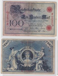 100 Mark Reichsbanknote Deutsches Reich 1.7.1898 (128663)