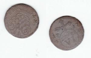 6 Pfennige Silber Münze Sachsen Weimar Eisenach 1717 (123739)