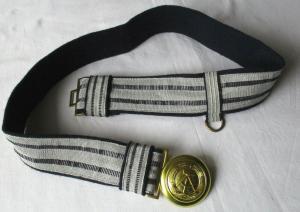 DDR NVA Volksmarine Marine Gürtel Koppelschloß Offizier Feldbinde (117522)