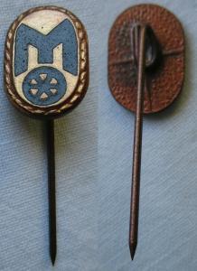 Seltene DDR Anstecknadel Ehrennadel Mitropa Stufe Bronze (126318)