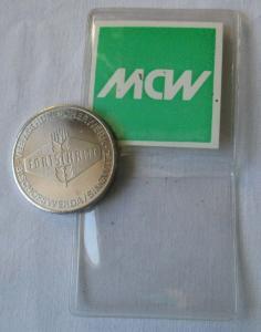 DDR Medaille VEB Mähdrescherwerk Fortschritt Bischofswerda / Singwitz (116880)