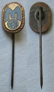Seltene DDR Anstecknadel Ehrennadel Mitropa Stufe Bronze (123223)
