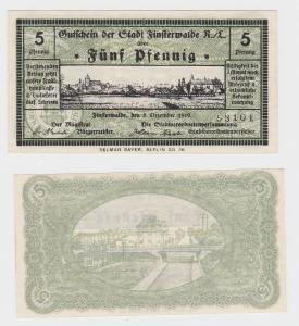 5 Pfennig Banknote Notgeld Stadt Finsterwalde 5.12.1919  (116559)