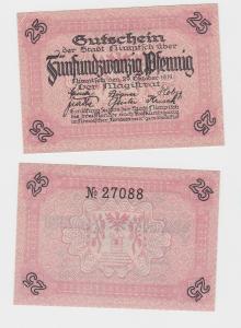 25 Pf. Banknote Notgeld Stadt Nimptsch Niemcza 29.10.1919  (117646)