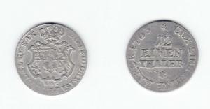 1/12 Taler Silber Münze Sachsen 1763 EDC (129181)