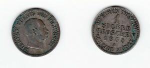 1 Silbergroschen Münze Preussen Wilhelm I. 1868A (129133)