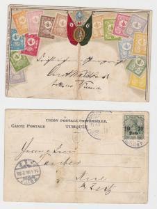 72060 Briefmarken AK Deutsche Post in der Türkei Osmanisches Reich 1906