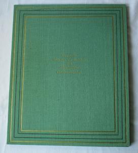 DDR Urkunde in Original Urkundenmappe Mitschurin Gedenkmedaille 1955 (125040)