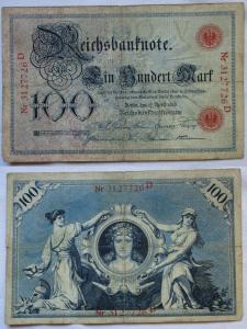 100 Mark Reichsbanknote Deutsches Reich 17.April 1903 (122020)