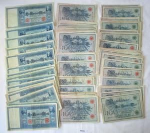 100 Banknoten Deutsches Reich je 100 Mark 1908-1910 (120034)