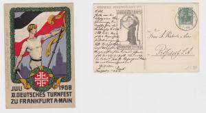93576 AK XI. Deutsches Turnfest zu Frankfurt am Main Juli 1908