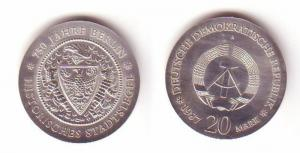 DDR Gedenk Münze 20 Mark Stadtsiegel Berlin 1987