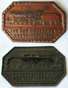DDR Abzeichen Tag des deutschen Eisenbahners 1956 (120941)