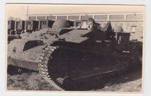 83541 Foto AK erbeuteter Renault UE Chenillette Panzer Wehrmacht 2. Weltkrieg