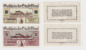 25 & 50 Pfennig Banknoten Notgeld Stadt Esens um 1920 (116889)