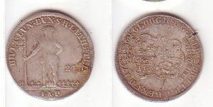 2/3 Taler 24 Mariengroschen Silber Münze Hannover 1764 (MU0184)