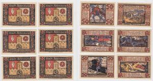 6 Banknoten Notgeld Prinzenraub Serie Stadt Altenburg 1921 (124153)