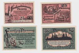25 & 50 Pfennig Banknoten Notgeld Lauban in Schlesien 1920 (112860)